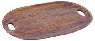 "20"" Wood Tray, Brown - One Kings Lane"