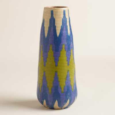 Large Fabric Wrapped Terracotta Vase - World Market/Cost Plus