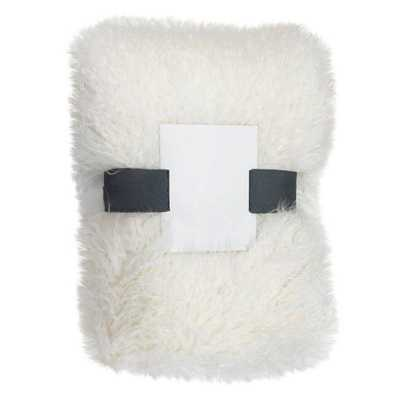 Threshold White Faux Mongolia Sheepskin Throw - Domino