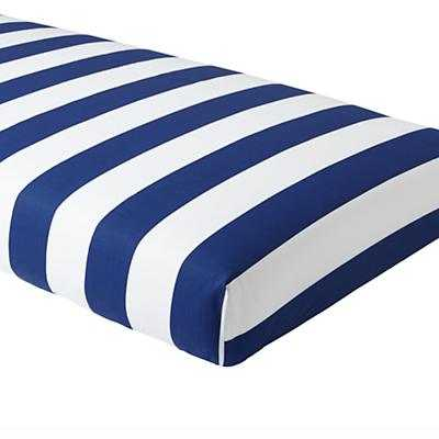 Candy Stripe Crib Sheet (Blue) - Land of Nod