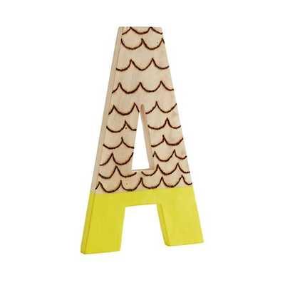 'A' Wood Shop Letters - Land of Nod