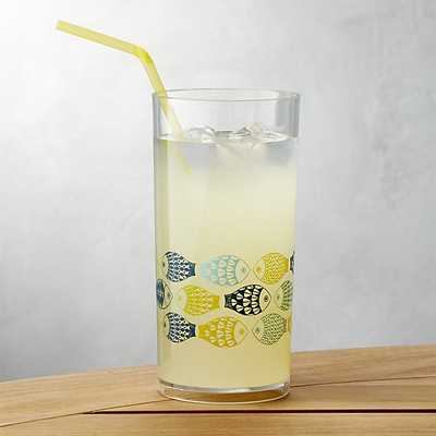 Fish Acrylic Drink Glass - Crate and Barrel
