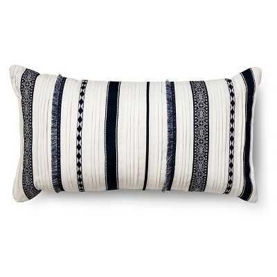 Oversized Lumbar Layered Stripe Throw Pillow - Target