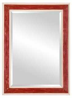 Loren Wall Mirror, Burgundy - One Kings Lane