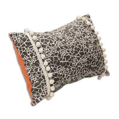 """Cricket's Denim Throw Pillow - 12.5"""" H x 19"""" W x 4"""" D - Polyester fill - Wayfair"""
