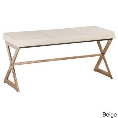 INSPIRE Q Southport Champagne Gold Finish 40-inch Metal Bench - Overstock