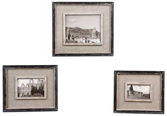 Set of 3 Uttermost Kalidas Photo Frames - Lamps Plus
