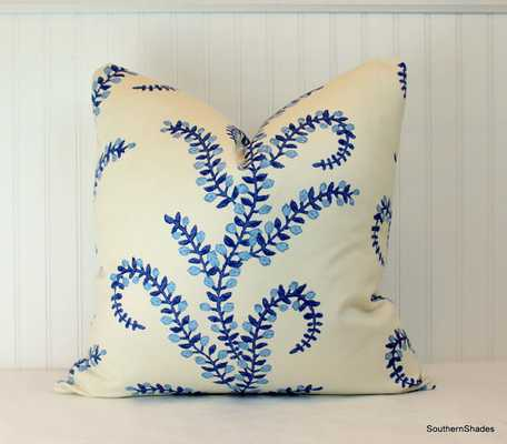 "Prasana Bluebell 20"" x 20"" Pillow Cover-Insert Sold Separately - Etsy"