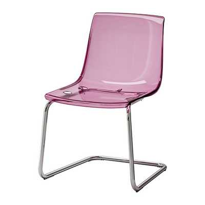TOBIAS Chair, lilac, chrome plated - Ikea