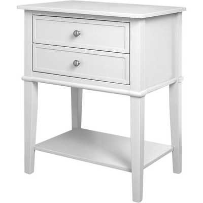 Altra Franklin Accent Table with Two Drawers-White - Overstock
