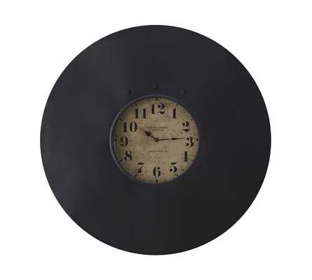 Industrial Chalkboard Wall Clock - Pottery Barn