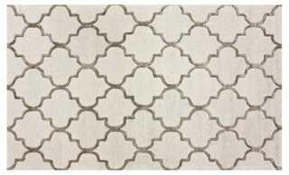 """Bazaar Trellis Rug, Ivory/Nickel-6""""x9"""" - One Kings Lane"""