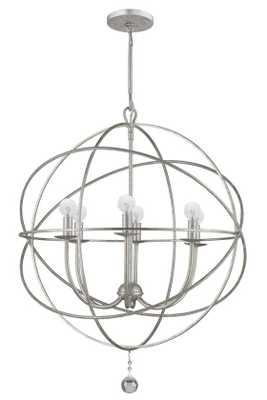 SOLARIS 6 LIGHT CHANDELIER - Small, Olde Silver - Home Decorators