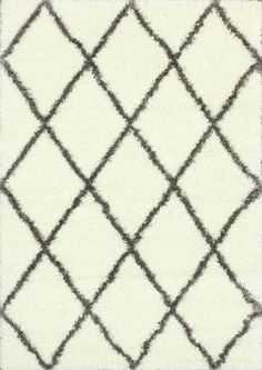 Trellis Shag Rug - Domino