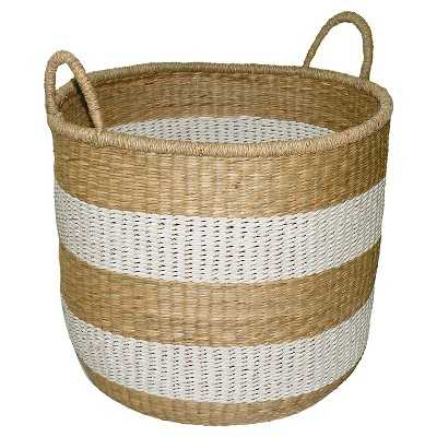 "Seagrass & Palm Leaf Basket Medium - Thresholdâ""¢ - Target"