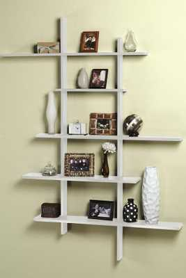 TALL CONTEMPORARY DISPLAY SHELF - Home Decorators