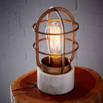 Mini Industrial Cage Lamp - West Elm