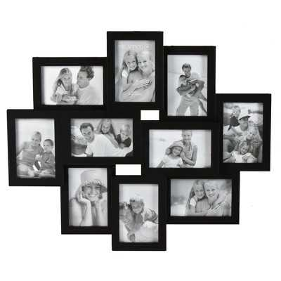 10-Opening Collage Picture Frame - Black 4x6 - Target