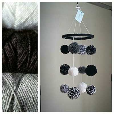 Black, White and Grey Crochet Baby Mobile - Etsy