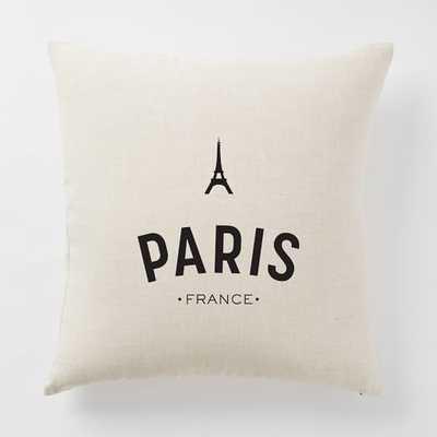 Around the World Pillow Cover - Paris - West Elm