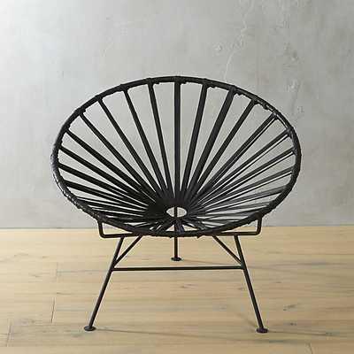 sayulita black leather chair - CB2