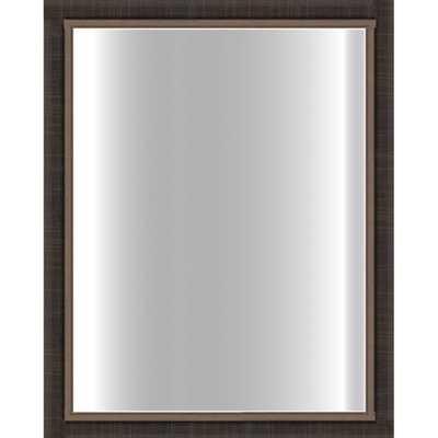 Dark Scratched Bronze Framed Glass Mirror - Overstock