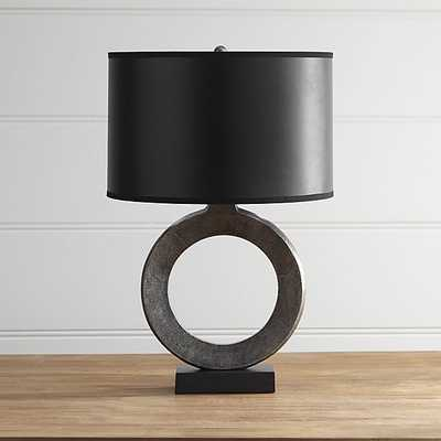 Crest Table Lamp with Black Shade - Crate and Barrel