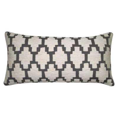 Threshold Applique Lumbar Pillow - Domino