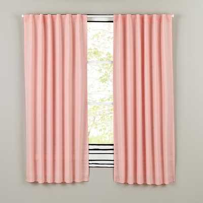 "96"" Fresh Linen Curtain (Pink) - Land of Nod"