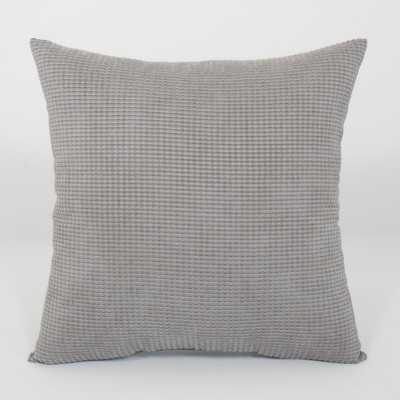 """Tyler Textured Woven Toss Throw Pillow-18""""x18""""-Charcoal-Insert-s/t 2 - Wayfair"""