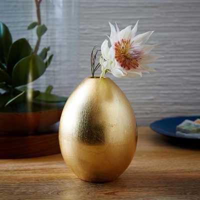 Gilded Egg Vase - West Elm