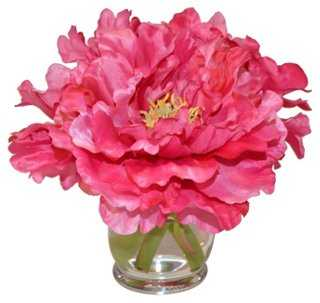 "10"" Peonies in Hourglass, Faux - One Kings Lane"