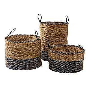 Laguna Seagrass Baskets – Navy - Domino