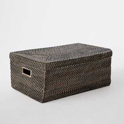 Modern Weave Storage - Small Lidded Basket - West Elm