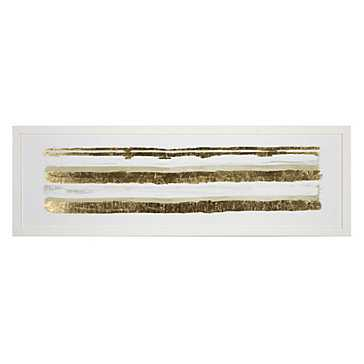Linear Gold Hues 1 - 41.5''W x 13.5''H  - Unframed - Z Gallerie