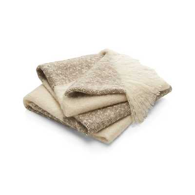 Costello Taupe Throw - Crate and Barrel