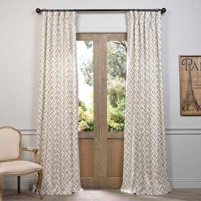 EFF Martinique Printed Cotton Curtain Panel - Overstock