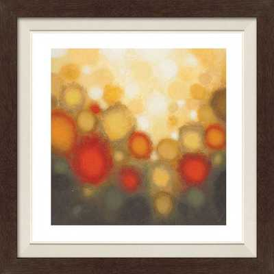"Garden Party II Framed Wall Art -Floated espresso-29"" - Home Decorators"