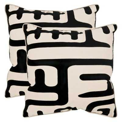 Safavieh Abstract Throw Pillow - Set of 2 - Target