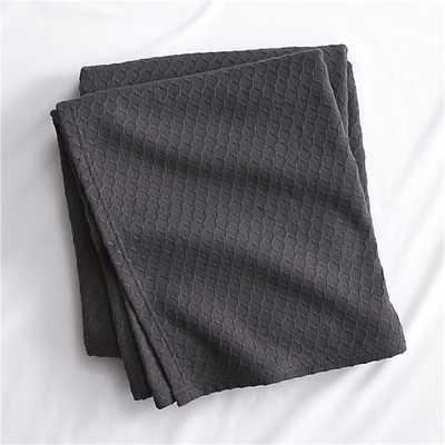 Hive graphite blanket - Queen - CB2