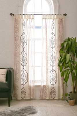 """Plum & Bow Jazmin Embroidered Curtain - Rust - 52"""" x 84"""" - Urban Outfitters"""