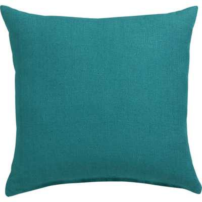 """Linon teal 20"""" pillow with feather insert - CB2"""