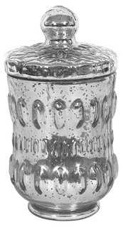 """8"""" Dumont Glass Jar, Silver - One Kings Lane"""