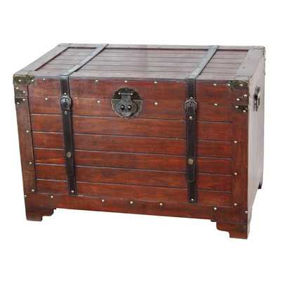 Old Fashioned Wood Storage Trunk - Wayfair