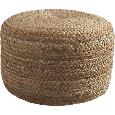 Braided Hemp Pouf - CB2