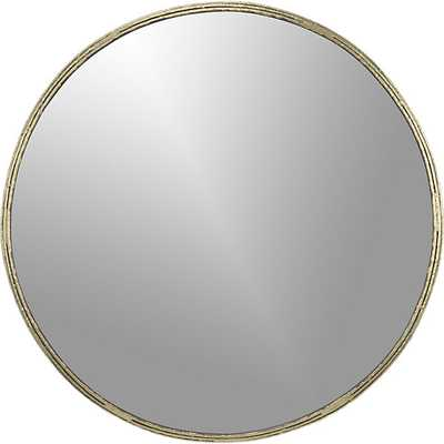 "Tork brass 30"" dripping mirror - CB2"