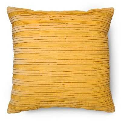 "Thresholdâ""¢ Pleated Textured Toss Pillow- Sun eclipse- 20L x 20W- Polyester fill insert - Target"