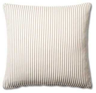 Ticking Cotton Pillow - One Kings Lane