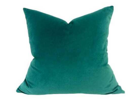"""Teal Velvet Decorative Pillow Cover-24""""-no insert - Etsy"""