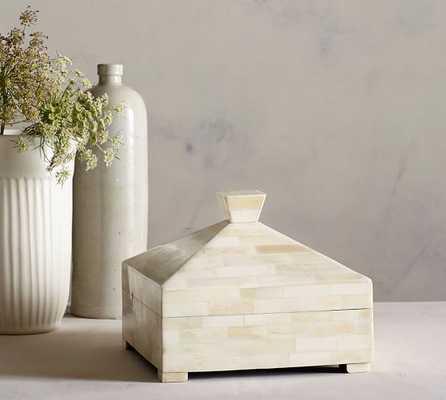 IVORY LIDDED BONE BOX - Pottery Barn